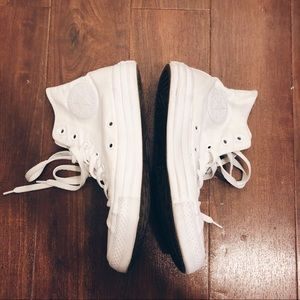 USED All White Madewell Exclusive Converse